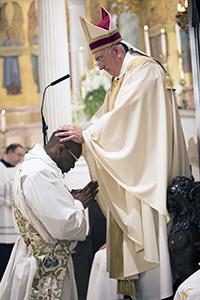 Nicholas Anthony DiMarzio ordains Father Mark Bristol, Saturday, June 4, 2016, in Brooklyn, N.Y. Photo courtesy Labadie Communications.