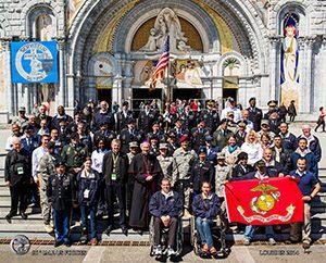 Group shot of 2014 Warriors to Lourdes Pilgrimage. Photo courtesy of Lacaze.