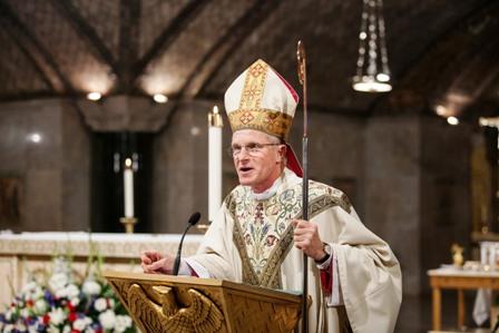 Archbishop Broglio announces Establishment of the Capodanno Guild, Sept. 4, 2013 in Washington, D.C. Photo by John Whitman.